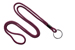 "Maroon Round 1/8"" (3 Mm) Lanyard W/ Black-Oxidized Split Ring"