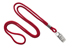 "Red Round 1/8"" (3 Mm) Lanyard W/ Nickel-Plated Steel Bulldog Clip"