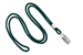 "Forest Round 1/8"" (3 Mm) Lanyard W/ Nickel-Plated Steel Bulldog Clip"