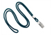 "Teal Round 1/8"" (3 Mm) Lanyard W/ Nickel-Plated Steel Bulldog Clip"