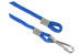 Royal Blue Round Woven Nylon Cord W/1 Nickel Plated Steel Hook And Loop