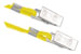 "Yellow Round Woven Nylon Lanyard W/ 2 Nickel Plated Steel ""U"" Clips"