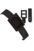 Black Plastic Dual Post Textured Luggage Strap
